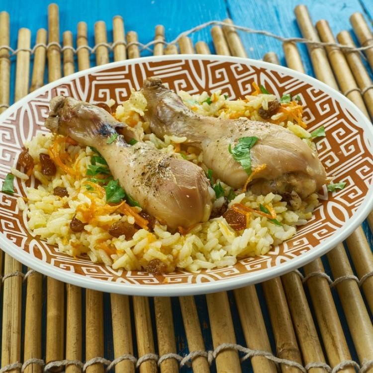 الرز الكابلي الحجازي بالدجاج