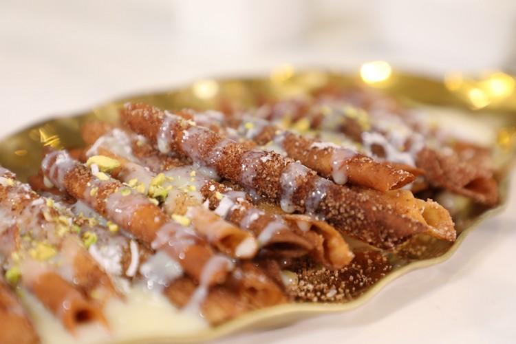 طريقة عمل حلى لفائف القرفة بالفيديو - حلويات - وصفات رمضانية - حلويات رمضان  -