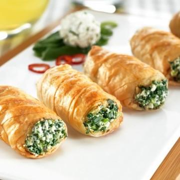 رولات السبانخ والجبن
