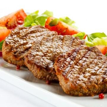 ستيك لحم بالخضار