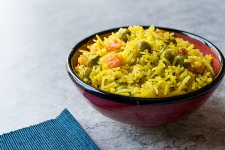 أرز بسمتي بالخضار