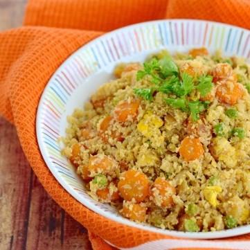 أرز القرنبيط بالخضار للرجيم
