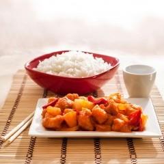 دجاج سويت اند سور مع الأرز