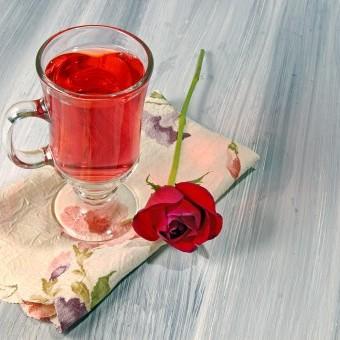 شراب الورد الطبيعي
