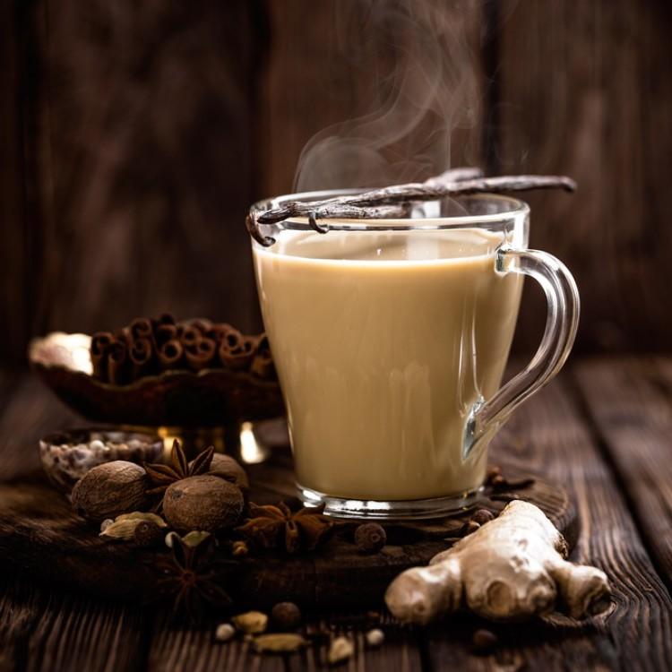 شاي كرك بالزنجبيل