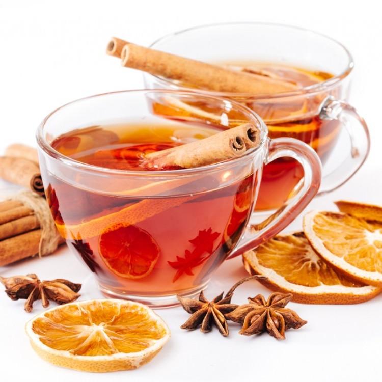 شاي القرفة بالبرتقال