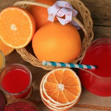 عصير شمندر وبرتقال