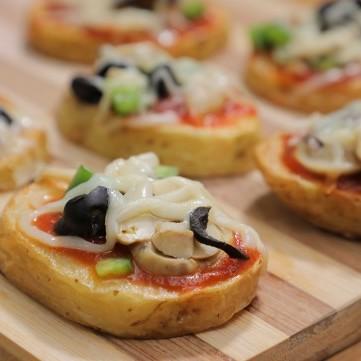 بيتزا البطاطس بالفيديو