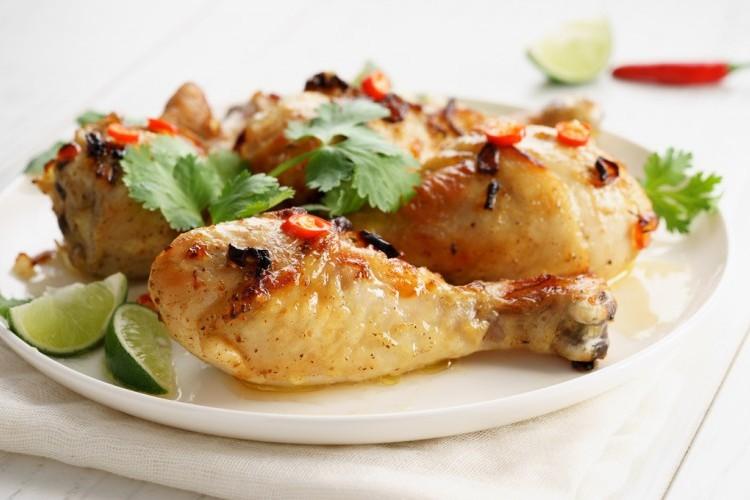 دجاج مشوي بالصلصة الحارة دايت