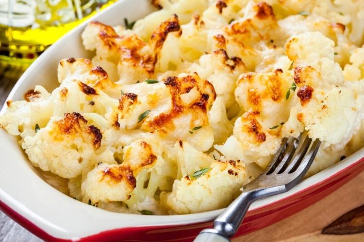 طريقة عمل قرنبيط (زهرة) مشوية مع جبن البارميزان للرجيم - المقبلات - أكلات رجيم -