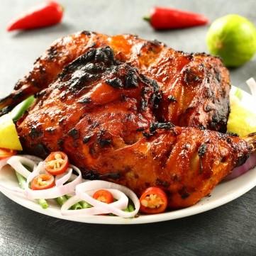 دجاج تندوري بالمقلاة بدون فرن