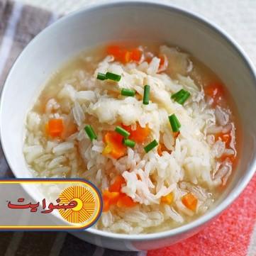 شوربة الأرز بالدجاج
