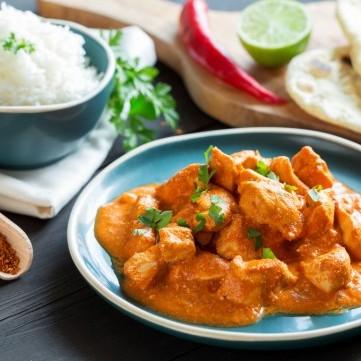 الدجاج بالزبدة من المطبخ الهندي
