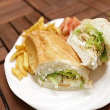 ساندويش الدجاج بالجبن الكريمي بالفيديو