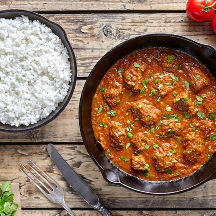 لحم الخروف بالزبدة من المطبخ الهندي