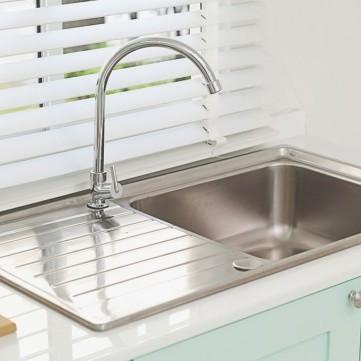أسهل طريقة لتنظيف حوض المطبخ الستانلس ستيل