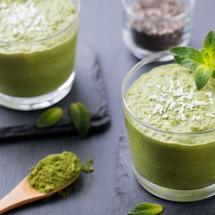 سموذي الشاي الأخضر الصحي