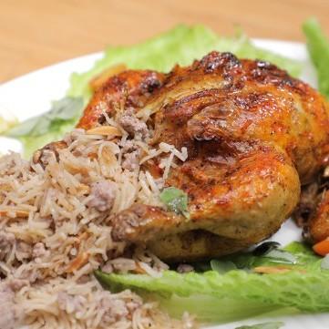 دجاج محشي بالأرز بالفيديو