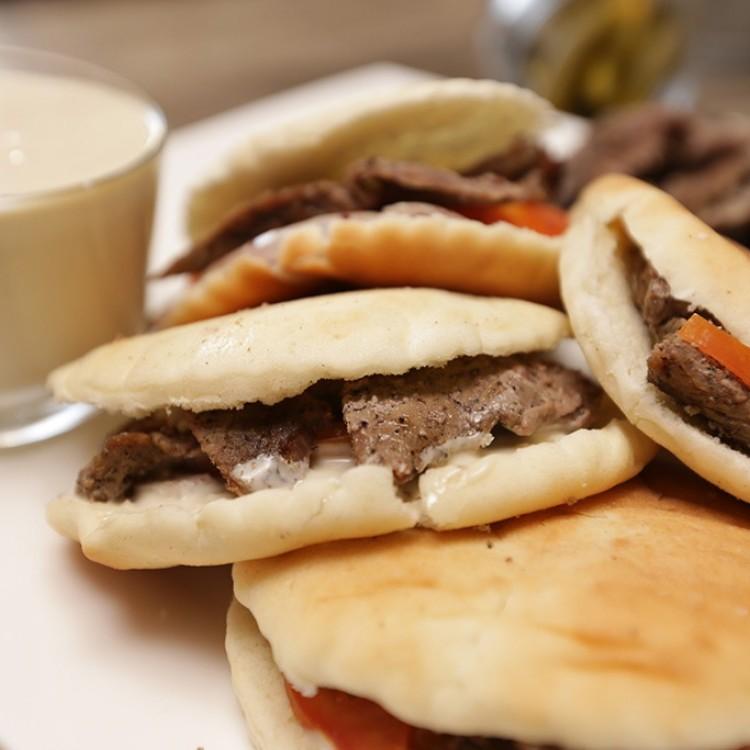 شاورما اللحم على طريقة المطاعم بالفيديو