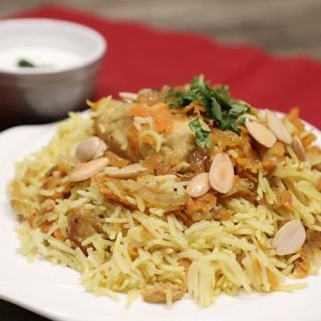 دجاج بالأرز الكاري بالفيديو