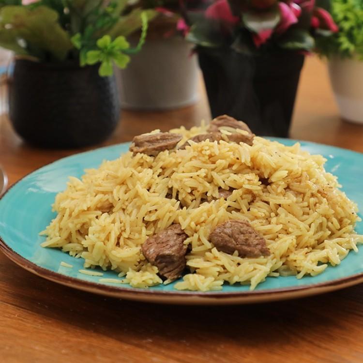 أرز بالكاري واللحم بالفيديو