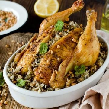 دجاج محشي بالأرز