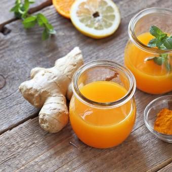 عصير البرتقال بالزنجبيل مقاوم للأمراض