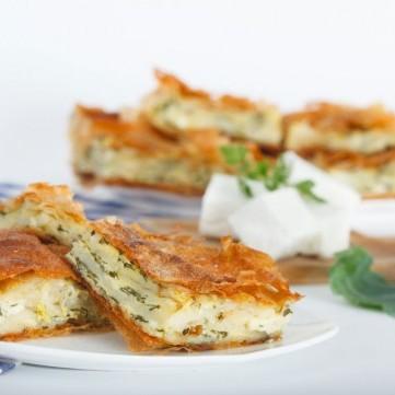 فطيرة الجبن الهشة