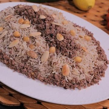 الأرز باللحمة المفرومة بالفيديو