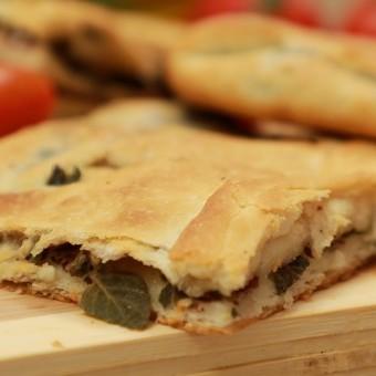 مطبق الزعتر الأخضر بالجبن بالفيديو