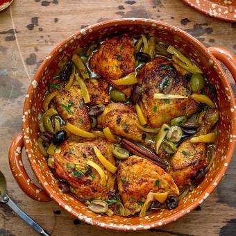 طاجن الدجاج بالزيتون المغربي