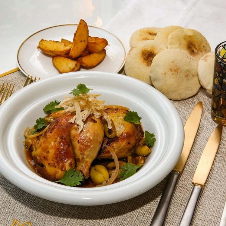 طاجن الدجاج بالليمون الحامض والزيتون
