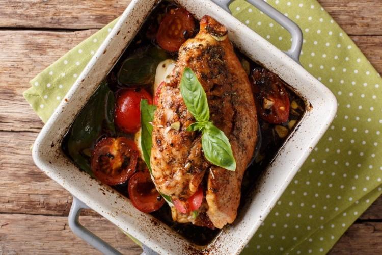 دجاج بصلصة البلسمك لرجيم صحي