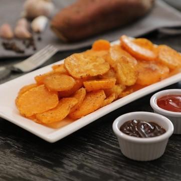 بطاطس حلوة مقلية مقرمشة بالفيديو