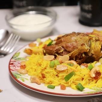 أرز بخاري باللحم لغداء عيد الأضحى بالفيديو