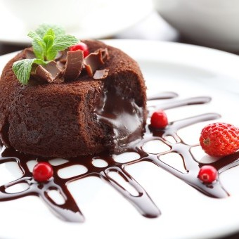 سوفليه الشوكولاتة السهل
