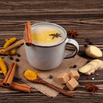 شاي بالكركم والقرفة