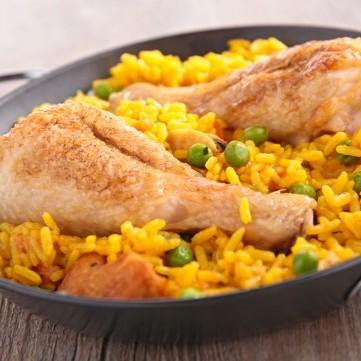 أرز مبهر بالبازيلا والدجاج