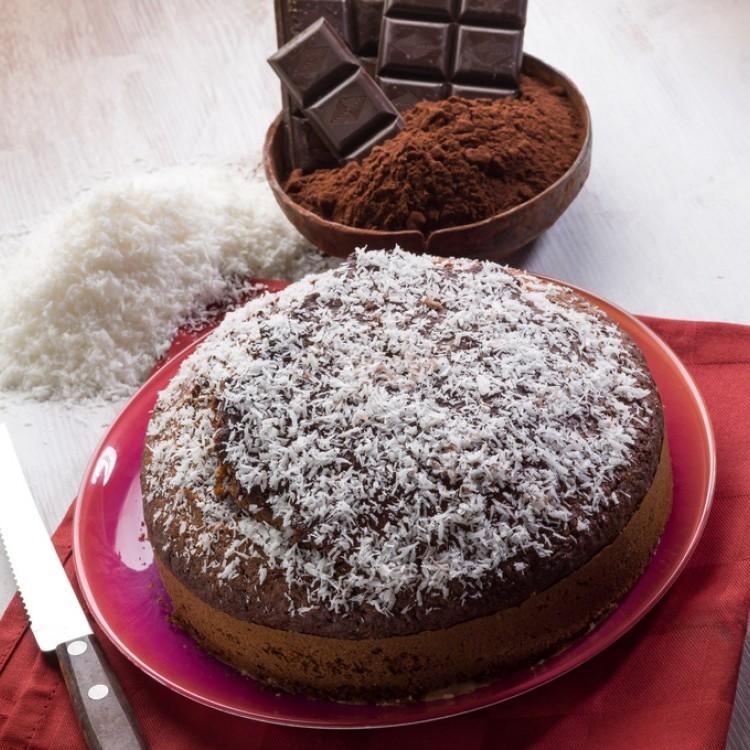 كيكة جوز الهند بالشوكولاتة