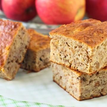 كيك القمح الصحي بالتفاح