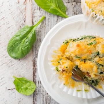 مافن البيض بالسبانخ للفطور