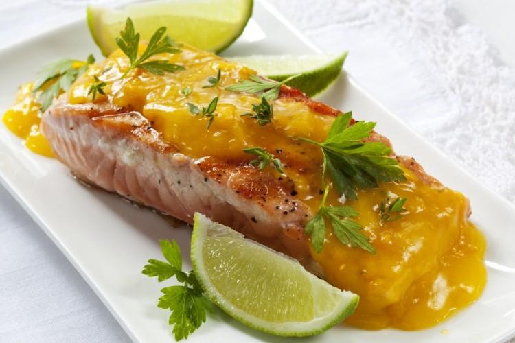 سمك بالبرتقال