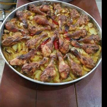 صينية البطاطس مع الدجاج
