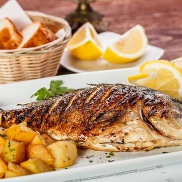 سمك مشوي بالتتبيلة للرجيم