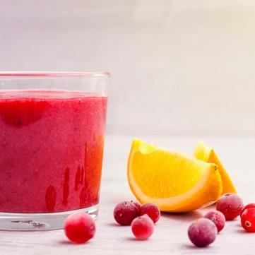 عصير التوت الأحمر مع البرتقال