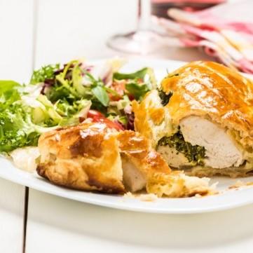 فطيرة السبانخ بالدجاج للسحور