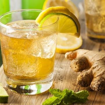 عصير الليمون بالزنجبيل الفوار