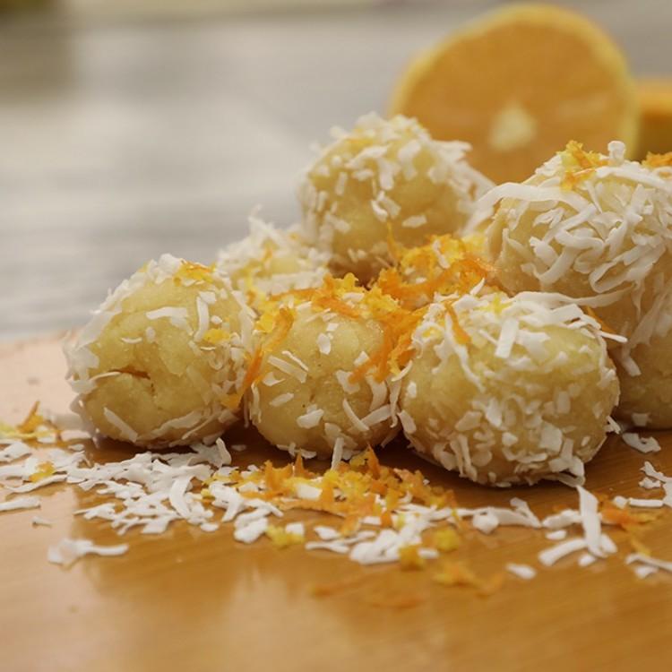 كرات البرتقال بجوز الهند بالفيديو
