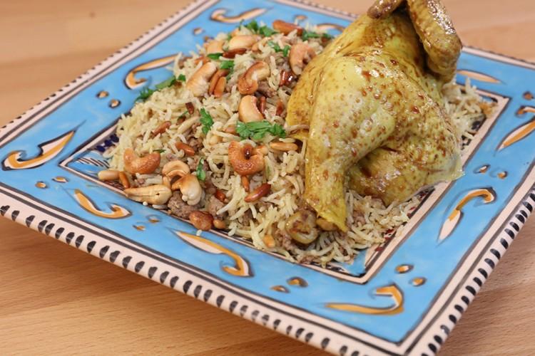 أرز الأوزي بالدجاج على طريقة منال العالم