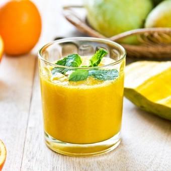 سموذي مانجو بالبرتقال